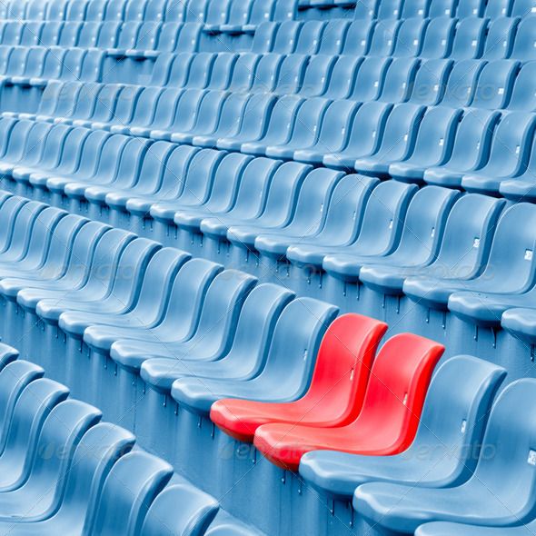 Empty Plastic Chairs - Stock Photo - Images
