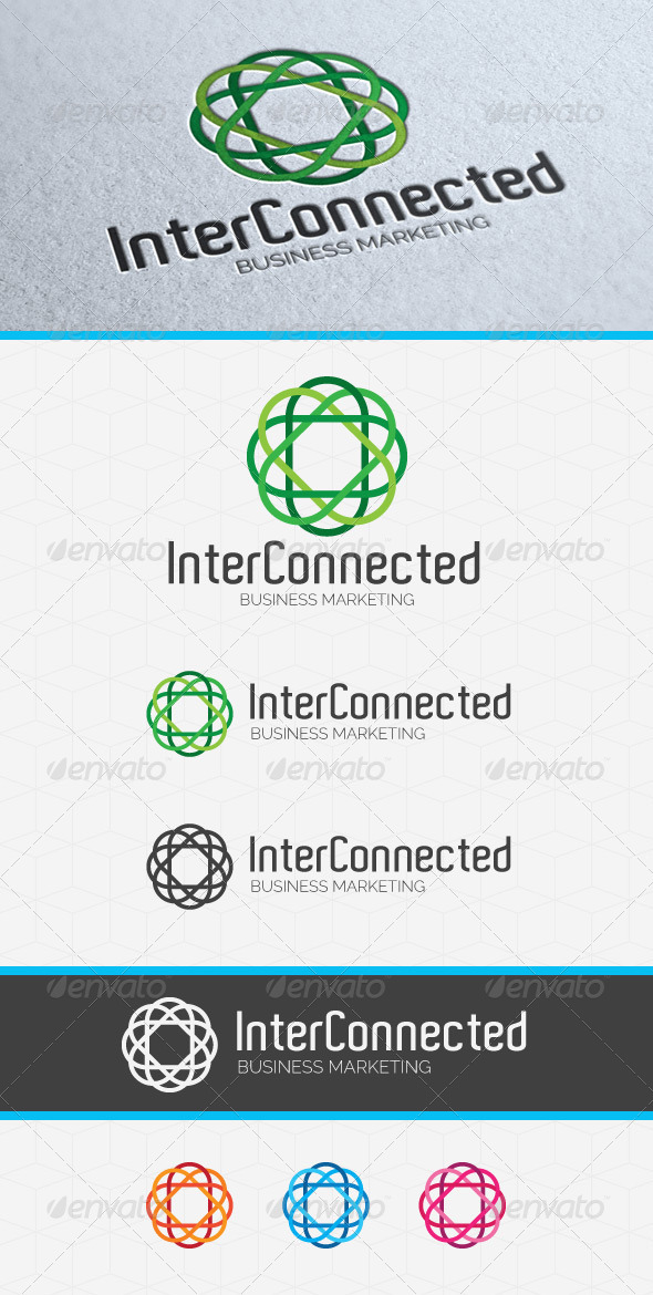 Inter Connected Logo Template - Abstract Logo Templates