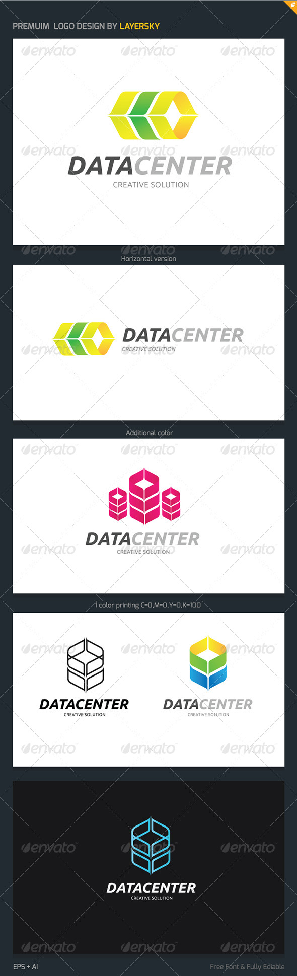 Data Center Logo - Symbols Logo Templates