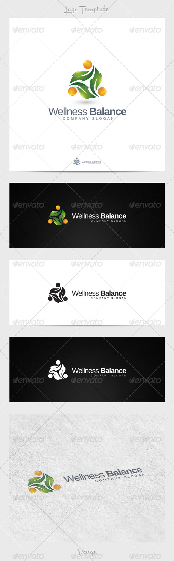 Wellness Balance - Nature Logo Templates