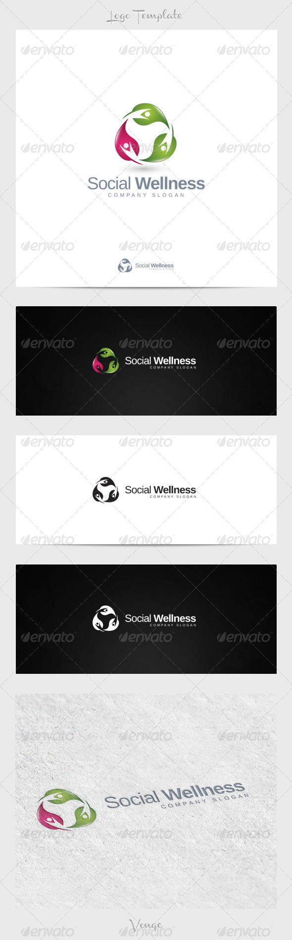Social Wellness - Nature Logo Templates