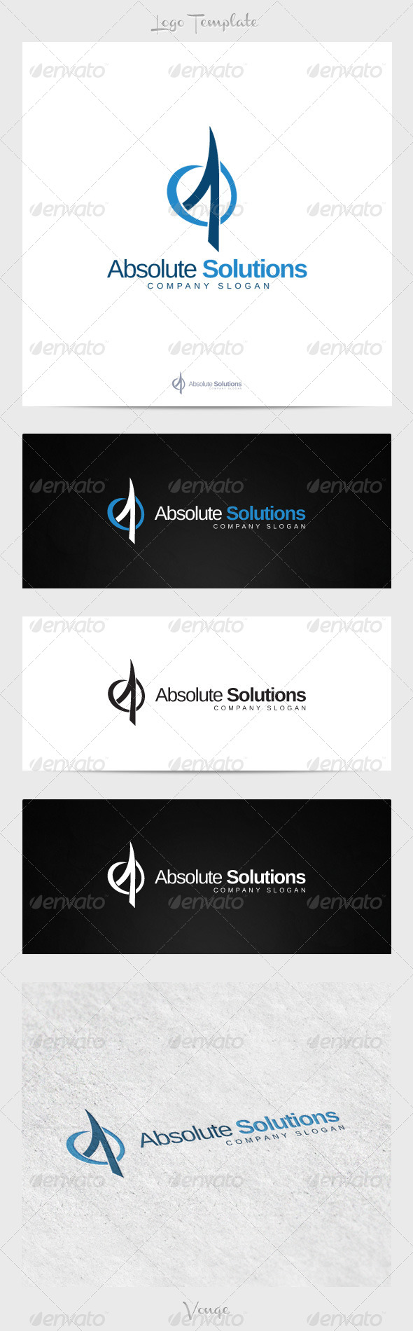 Absolute Solutions - Letters Logo Templates
