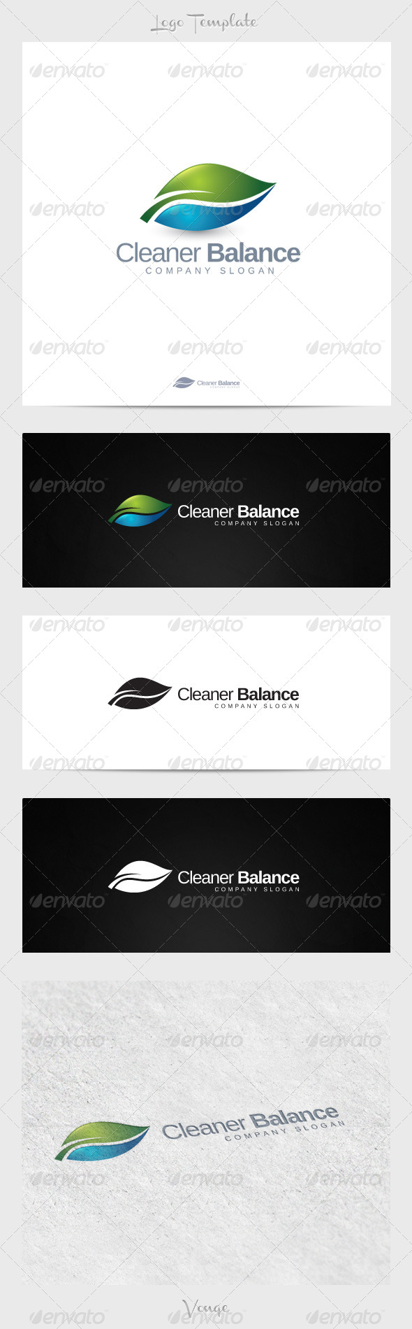 Cleaner Balance - Nature Logo Templates