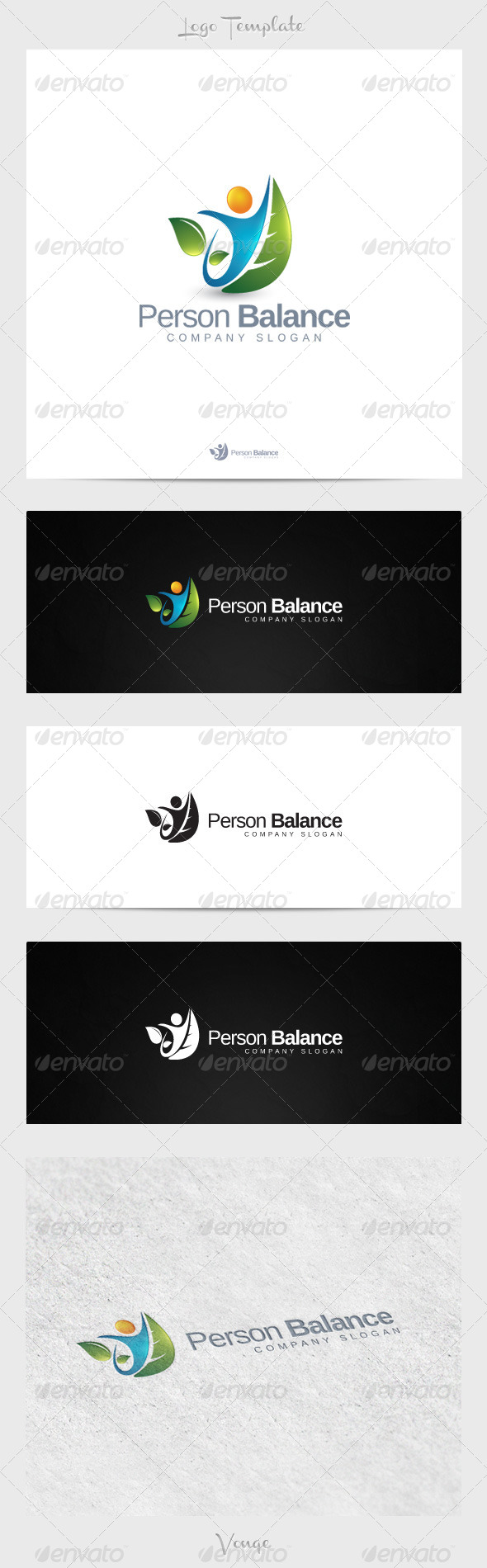Person Balance - Nature Logo Templates