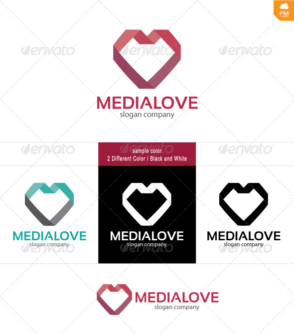 Media love - Objects Logo Templates