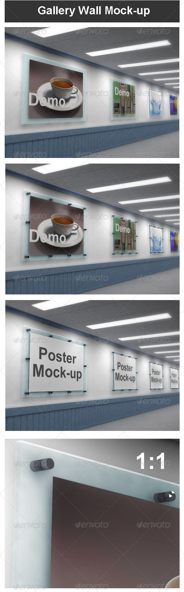 Gallery Wall Mock-up - Miscellaneous Displays