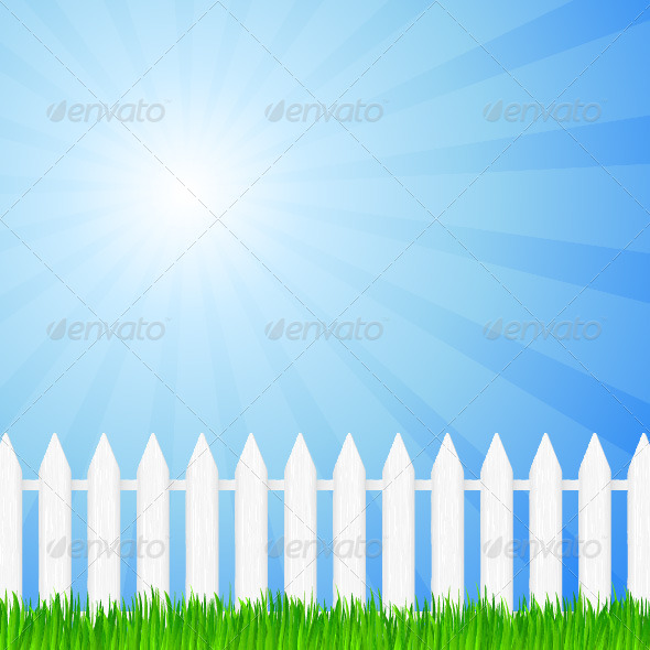 Wooden Fence and Grass - Landscapes Nature