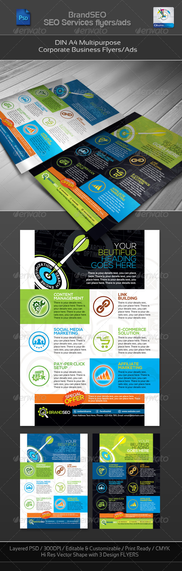 BrandSEO Corporate SEO Business Flyer/Ad - Corporate Flyers