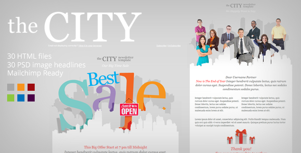 The City – Metro Business Email template