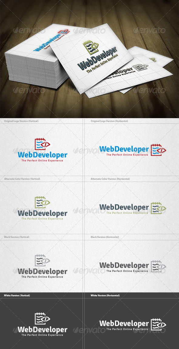 Web Developer Logo - Vector Abstract