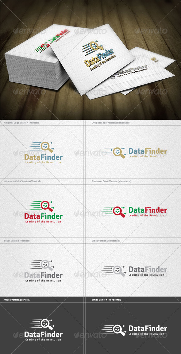 Data Finder Logo - Symbols Logo Templates