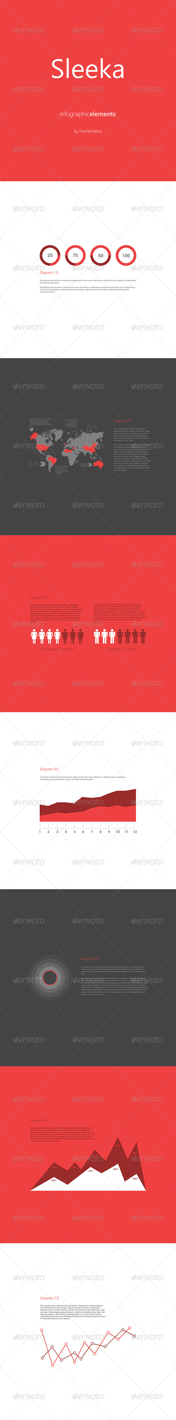 Sleeka - Infographic Elements - Vectors