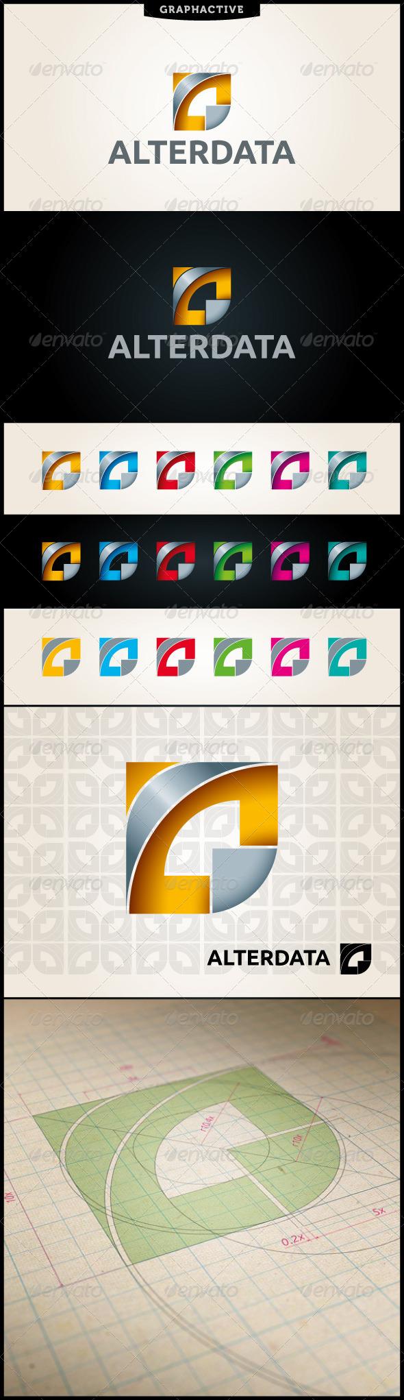 Alterdata Abstract Logo Template - Abstract Logo Templates