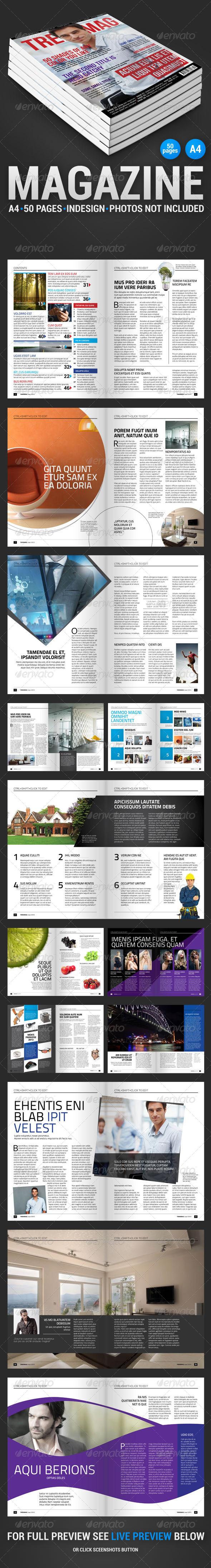 TrendMag 50 pages magazine - Magazines Print Templates