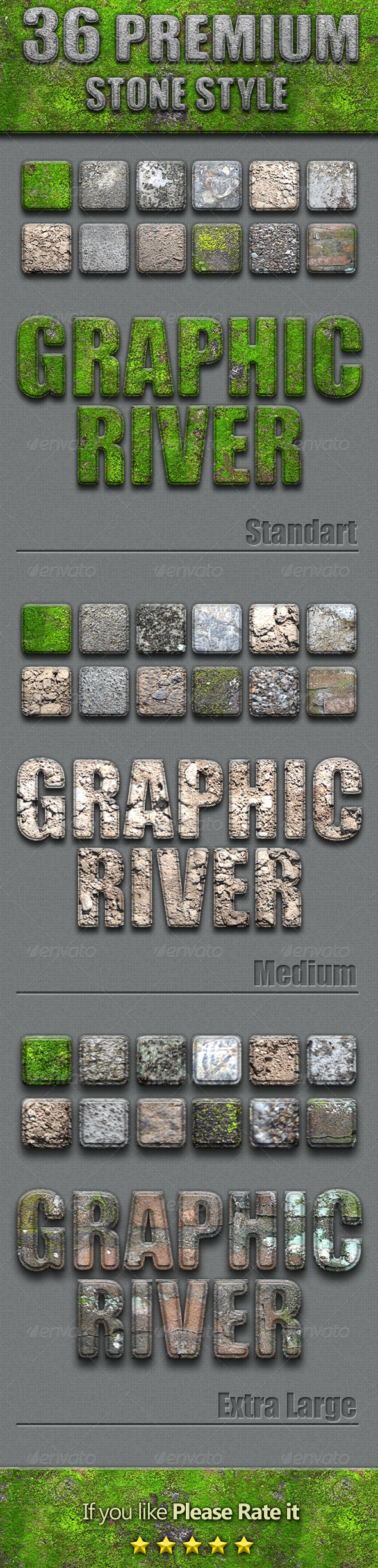 36 Premium Stone Style - Text Effects Styles