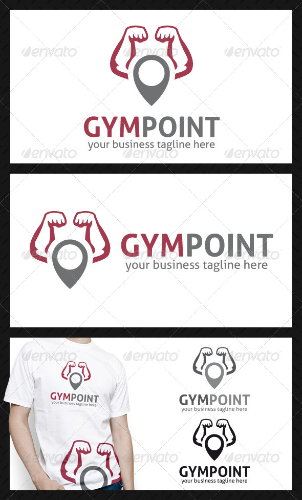 Gym Locator Logo Template - Humans Logo Templates