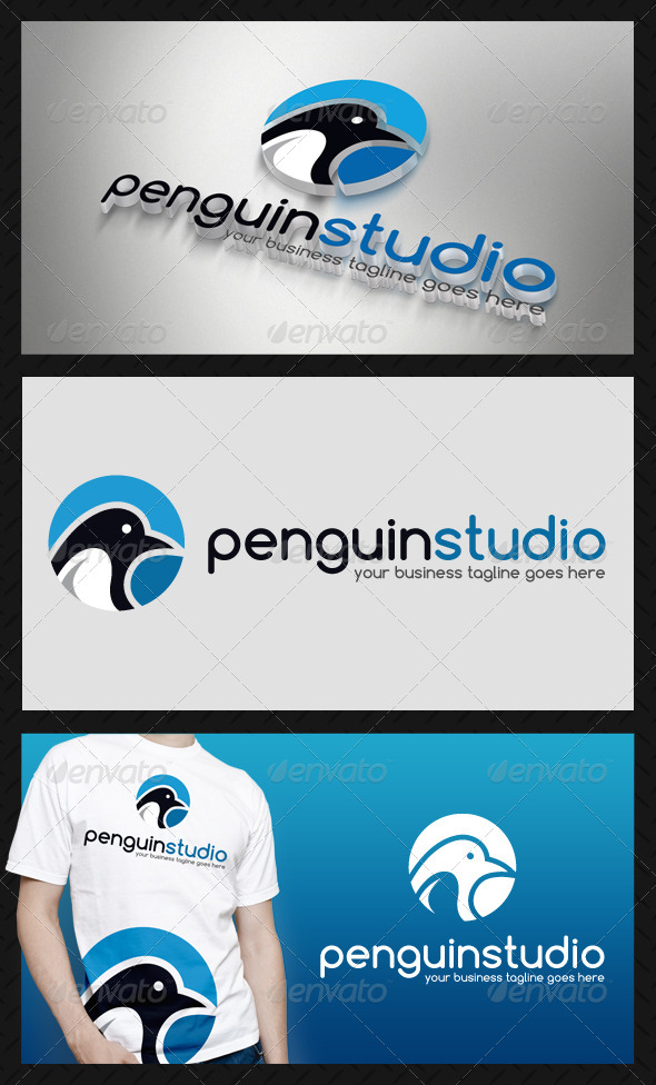 Penguin Logo Template - Animals Logo Templates