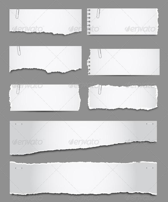 Torn Paper - Borders Decorative