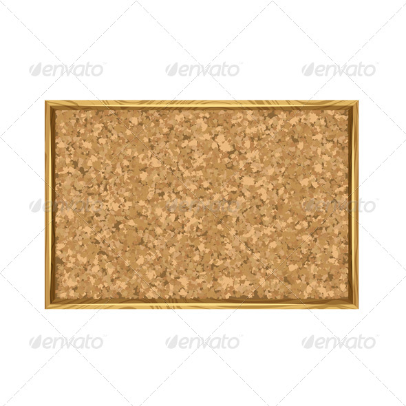 Corkboard with Wooden Frame - Backgrounds Decorative