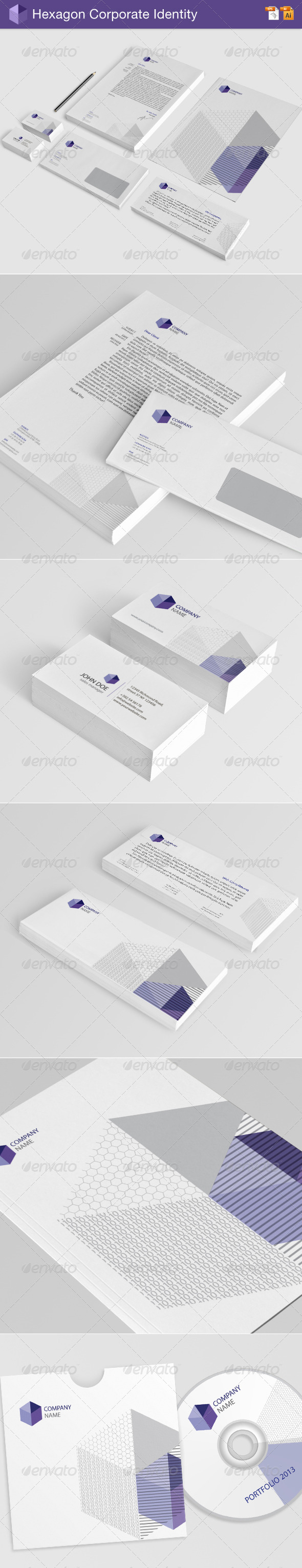 Hexagon Corporate Identity - Stationery Print Templates