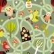 Seamless Road Pattern with Houses and Birds - GraphicRiver Item for Sale