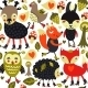 Seamless Pattern with Woodland Animals - GraphicRiver Item for Sale