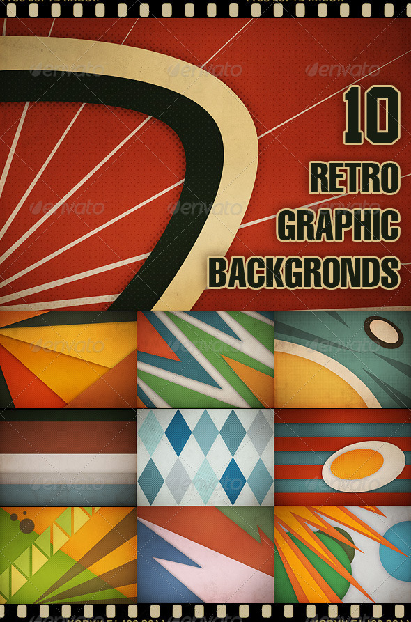 10 Retro Graphic Backgrounds II - Backgrounds Graphics