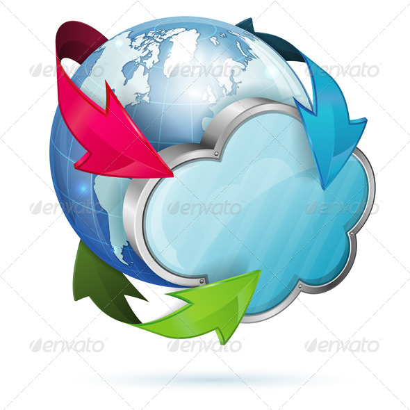 Global Access and Cloud Computing Concept - Computers Technology
