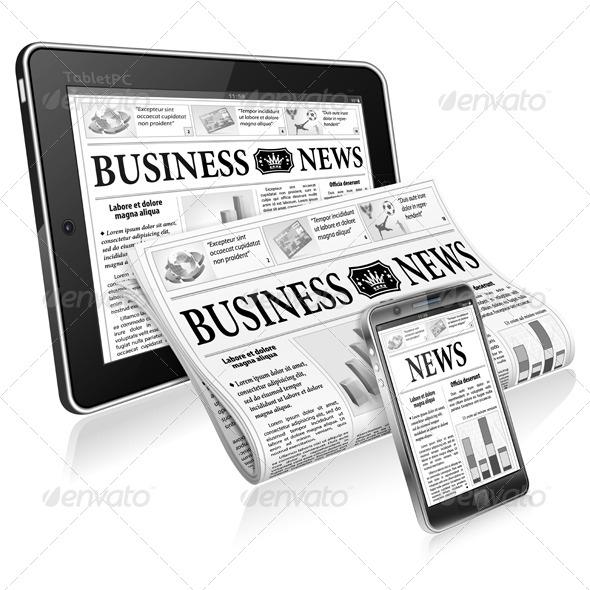 Concept - Digital News - Concepts Business