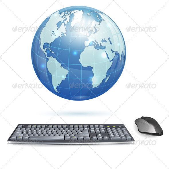 Global Computing Concept - Computers Technology