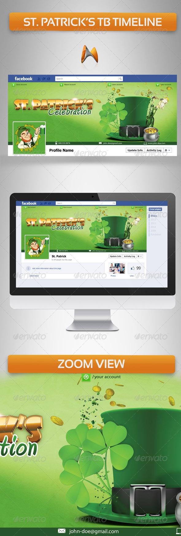 St. Patrick FB Timeline Cover - Facebook Timeline Covers Social Media