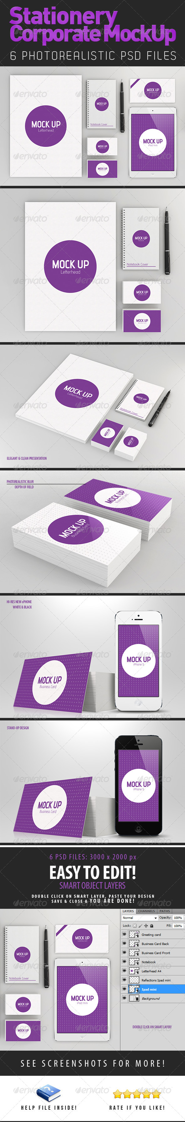 Stationery Branding Mock-Up - Print Product Mock-Ups