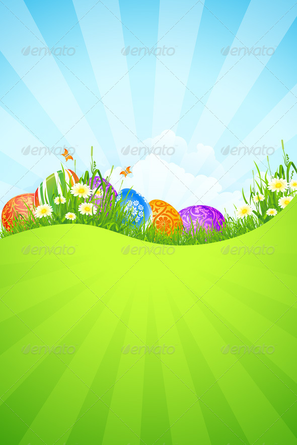 Beautiful Easter Holiday Background - Landscapes Nature