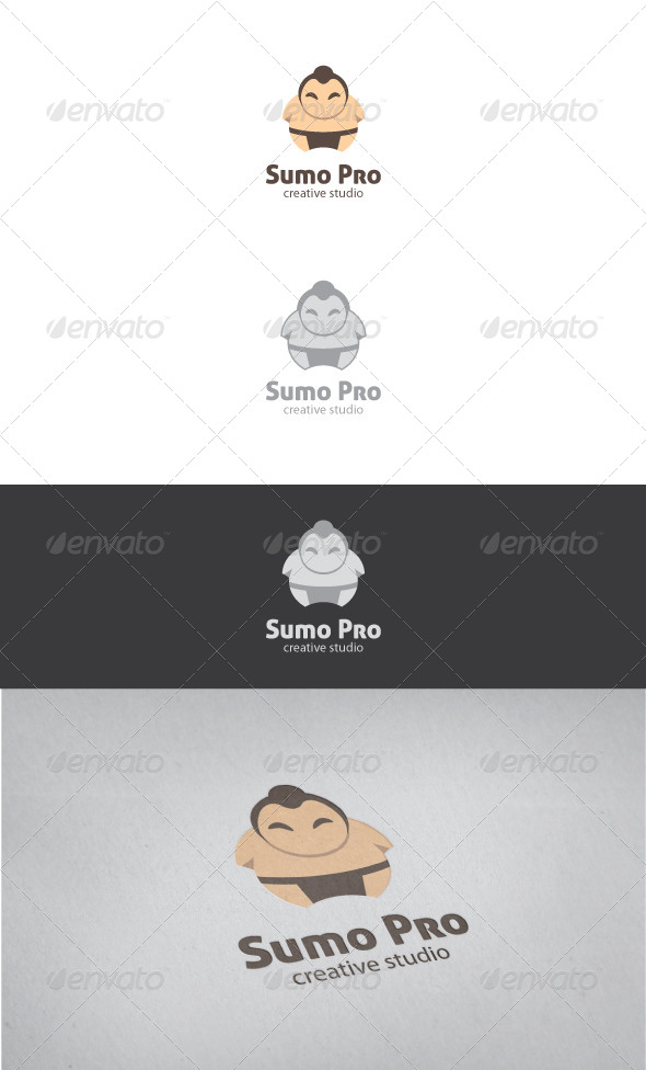 Sumo Pro Logo Template - Humans Logo Templates