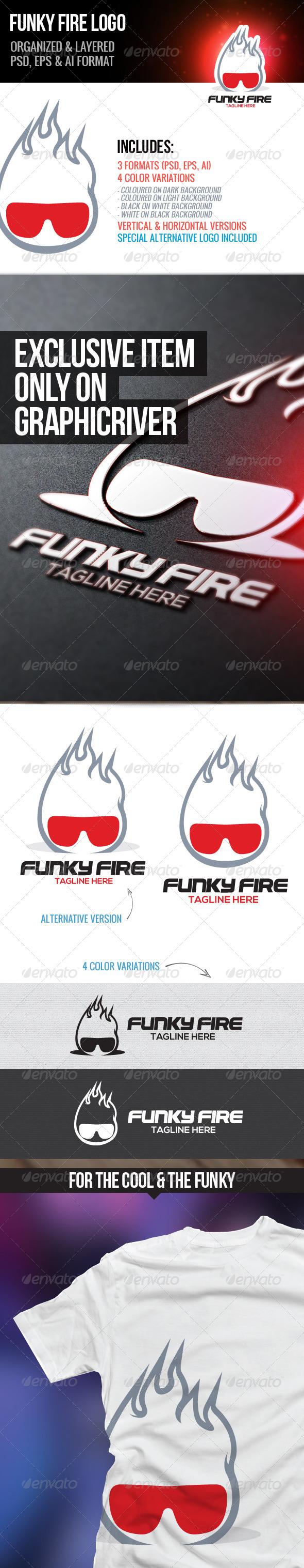 Funky Fire Logo