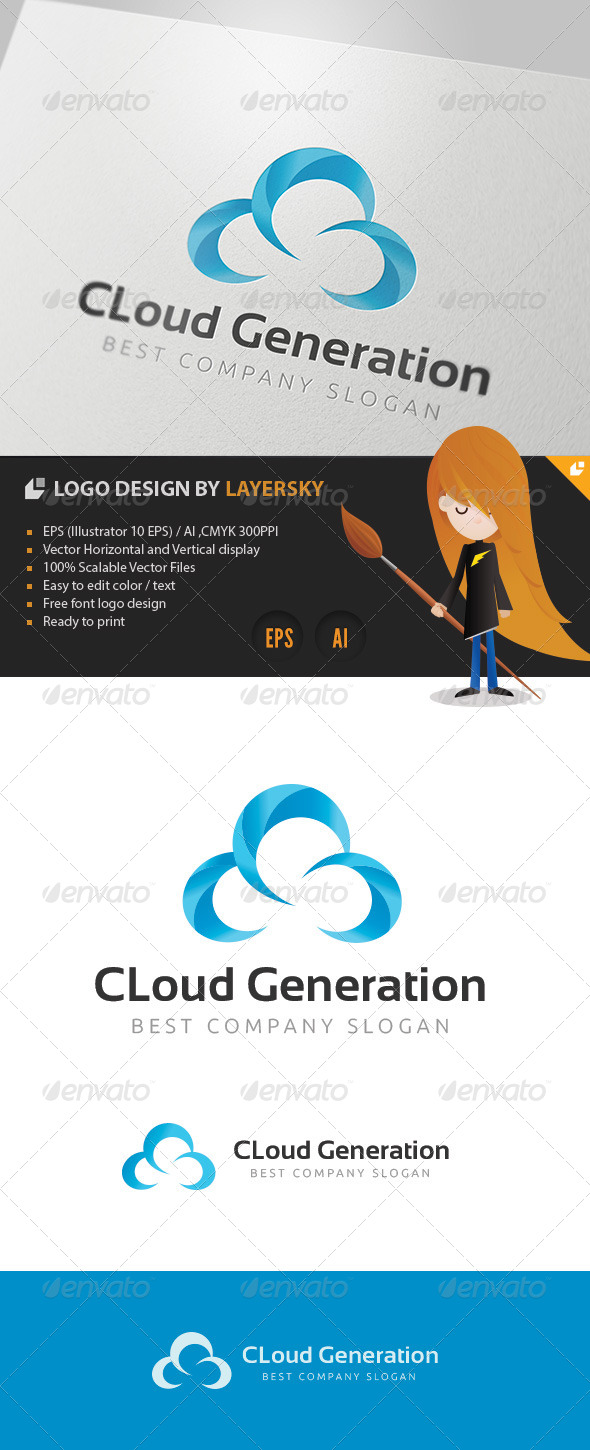 Cloud Generation Logo - Abstract Logo Templates