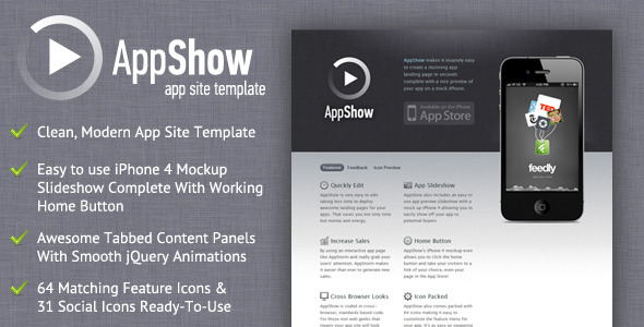 Free Download AppShow - Clean App Site Template Nulled Latest Version