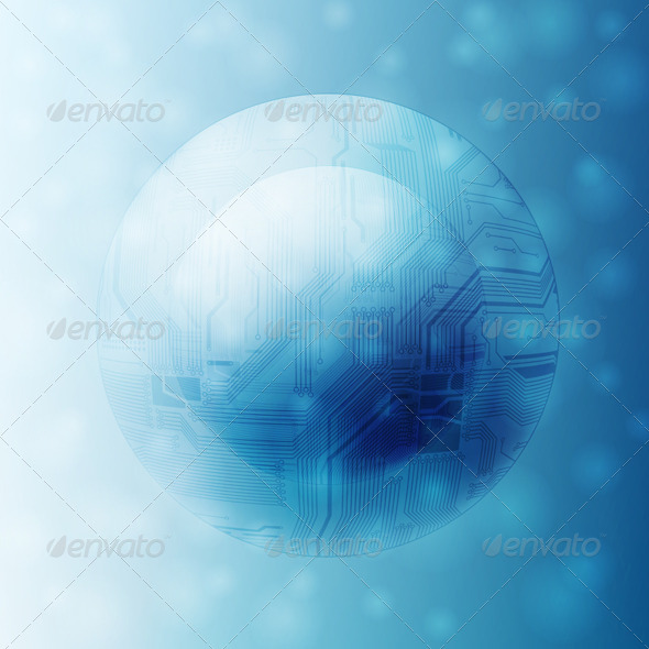 Futuristic Background - Technology Conceptual