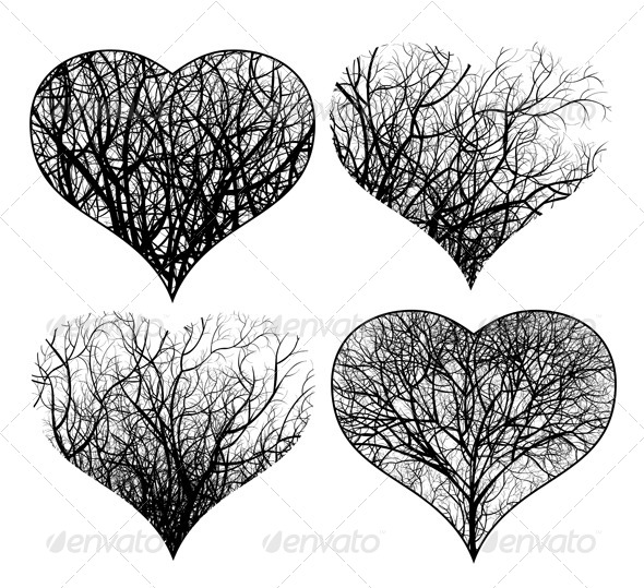 Ornamented Hearts - Valentines Seasons/Holidays