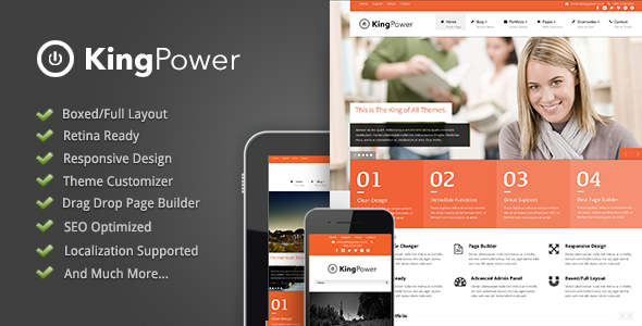 King Power – Retina Ready Multi-Purpose Theme