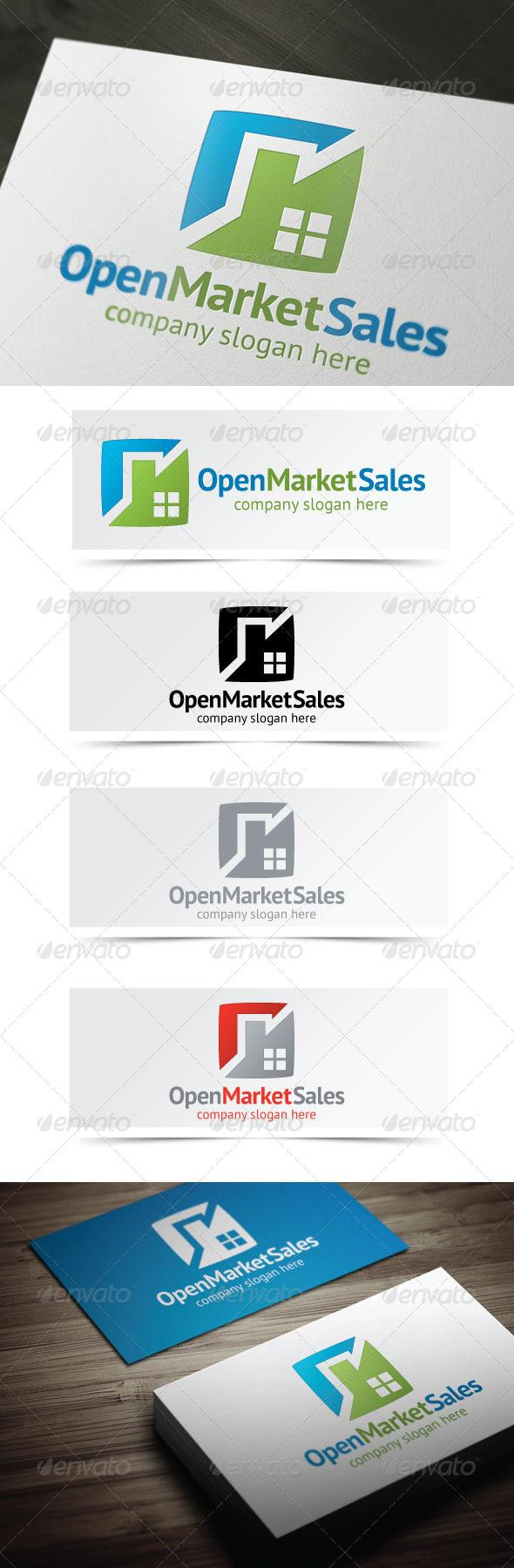 Open Market Sales - Buildings Logo Templates