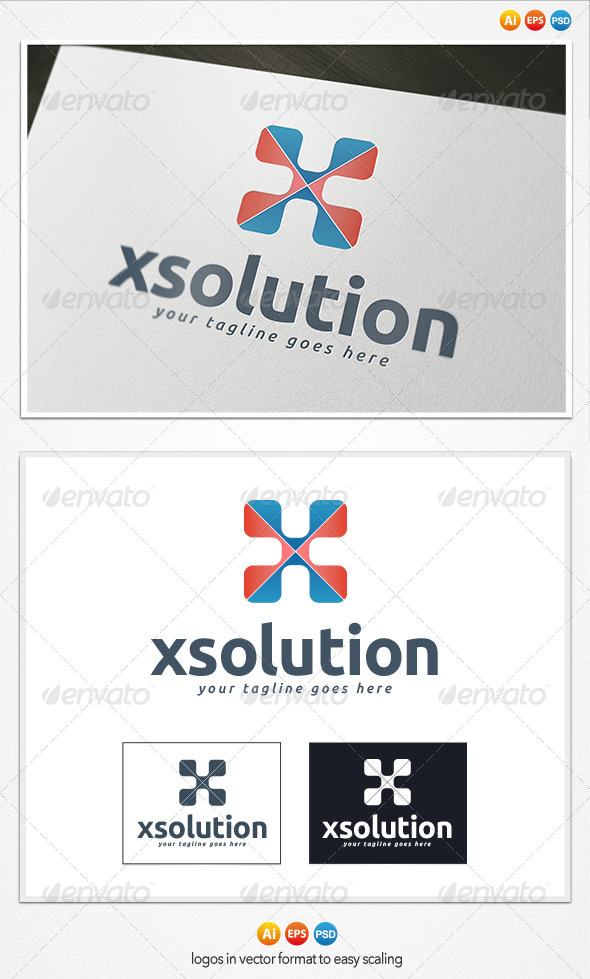 X Solutions Logo - Letters Logo Templates