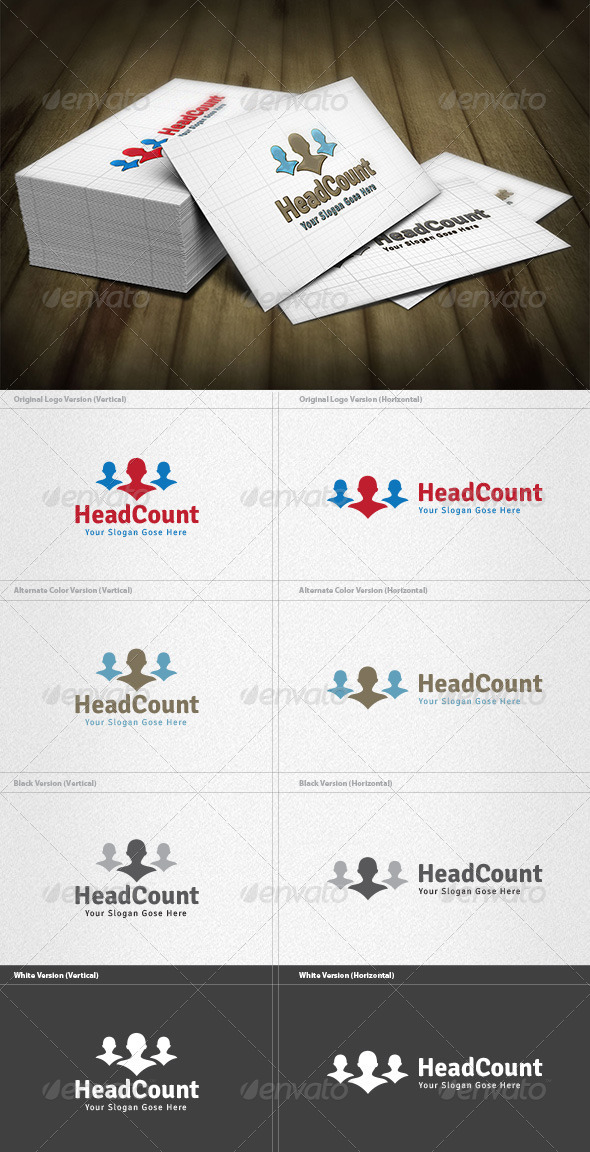 Population Counter Logo - Humans Logo Templates