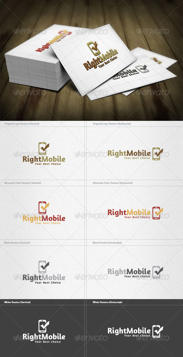 Right Mobile Logo - Symbols Logo Templates