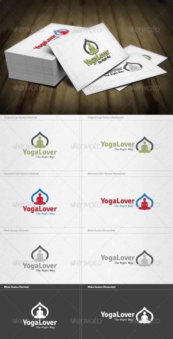 Yoga Lover Logo - Symbols Logo Templates