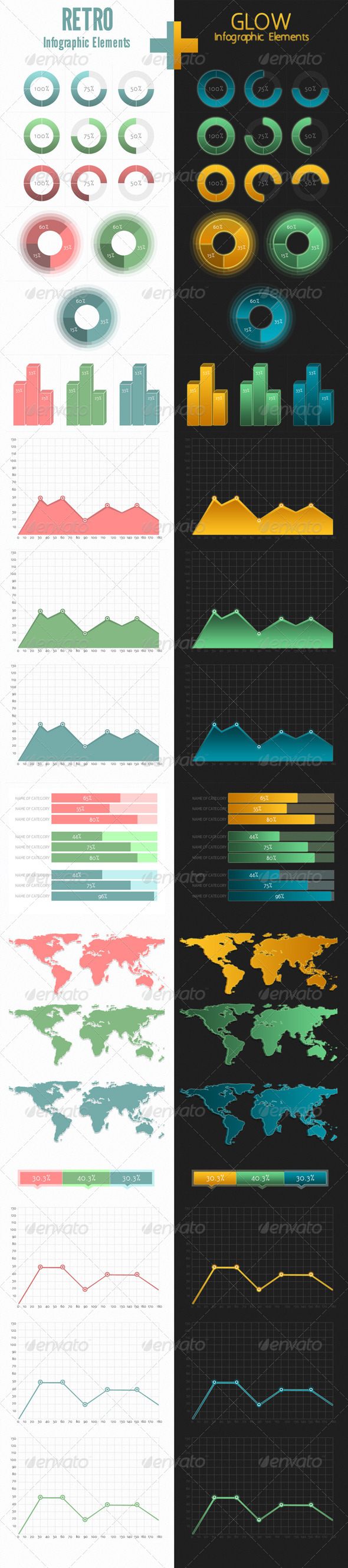 Retro+Glow Infographic - Miscellaneous Web Elements