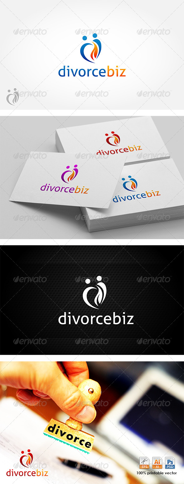 Divorce Biz Logo - Humans Logo Templates