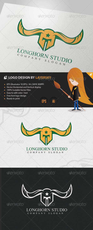 Longhorn Studio Logo - Crests Logo Templates