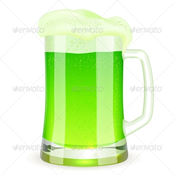 Saint Patrick's Day Pint of Green Beer - Miscellaneous Seasons/Holidays