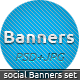 Social Banners - Social Web Banner Set - GraphicRiver Item for Sale